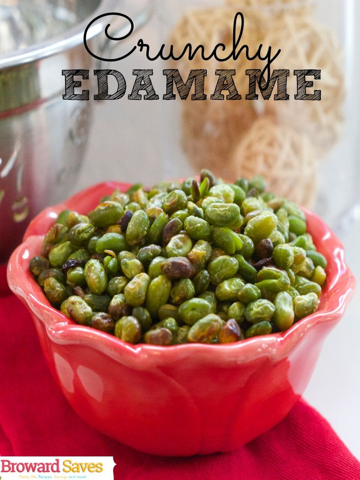 Crunchy Edamame Recipe - Healthy, crunchy and so easy to make! This is a must try recipe! Never go to potato chips again!