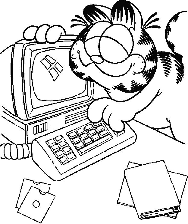13 best #068 GarField images on Pinterest | Coloring pages, Kids ...