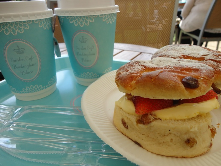 Afternoon tea at Buckingham Palace - scones and clotted cream