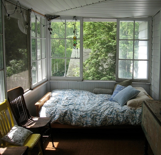 Unique Sunroom Into Bedroom