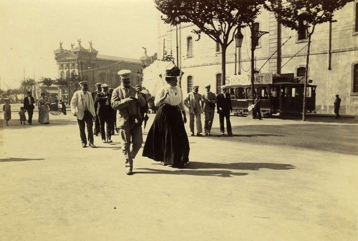Barcelona (1907-1908), Frederic Ballell: Rambla de Santa Mónica. Al fondo, el edificio de la Aduana.