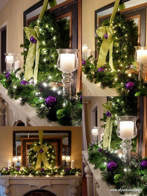 A Whole Bunch Of Christmas Mantel Decorating IdeasMantles Decor, Decor Ideas, Mantel Decor, Christmas Fireplace, Decorating Ideas, Christmas Decor, Holiday Decor, Christmas Mantles, Christmas Mantels