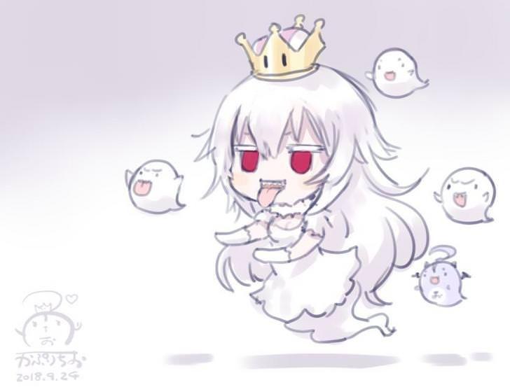 Princess Boo Boo Princess Anime Art Super Mario Anime