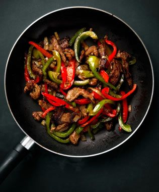 With thin strips of steak and peppers, this stir-fry steak is quick to make, spicy and peppery, and totally satisfying for Phase 2 (use a nonstick pan instead of oil) and Phase 3. Use beef broth, and tamari instead of soy sauce.