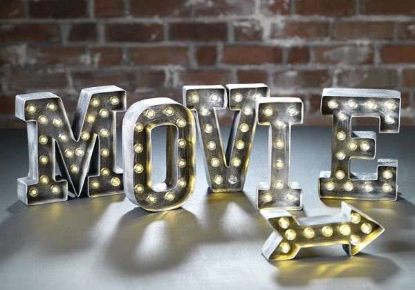 How to make DIY @heidiswapp Movie Night Marquee Letter Lights by @sarahowens for @craftsavvy for your home decor!