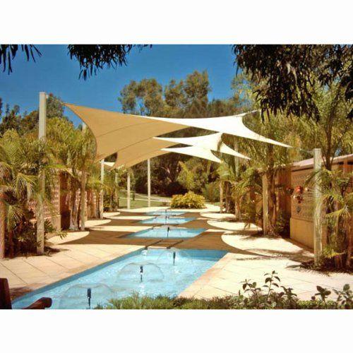 Phoenix 18.5' Square Sun Shade Sail Complete Home Kit Desert Sand Color $73.69