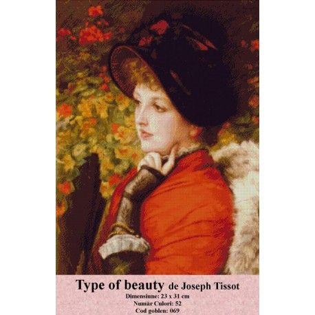 Seturi goblen Type of beauty de Joseph Tissot http://set-goblen.ro/portrete/3719-type-of-beauty-de-joseph-tissot.html
