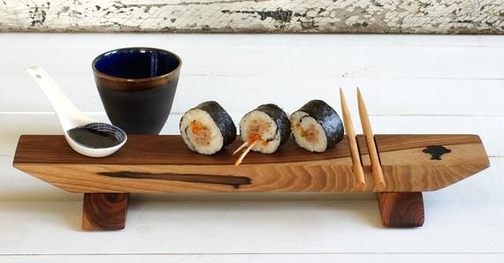 Wood Sushi Serving Set