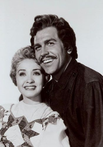Jane Powell with Howard Keel in the wonderful, delightful, cheesy, nostalgic SEVEN BRIDES FOR SEVEN BROTHERS (1954).