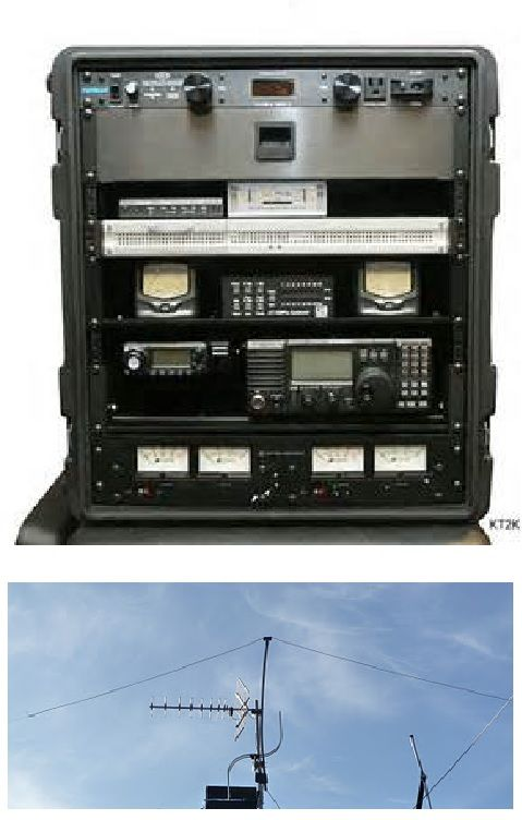 Emergency Ham Radio Go Box with Antenna.