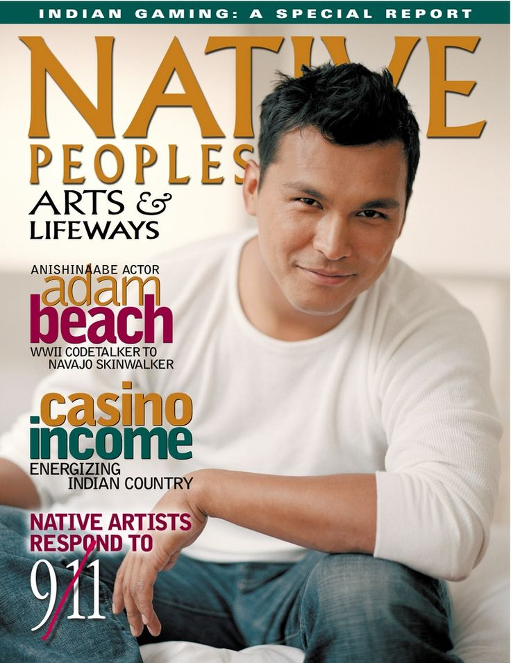 Adam Beach on the cover of Native Peoples magazine