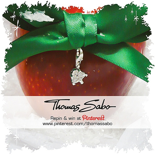 The lucky winner will be drawn on November 27, 2012! Important: Your facebook or twitter account must be linked to your Pinterest profile! Terms and conditions: http://images.thomassabo.com/www/2/2012/11/TC-Pinterest-Xmas-Sweepstake.pdf