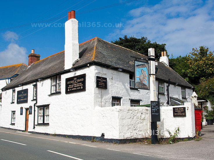 The Bucket of Blood, Hayle, Cornwall. The grim name of this pub is rooted in Cornwall's history of pirates.