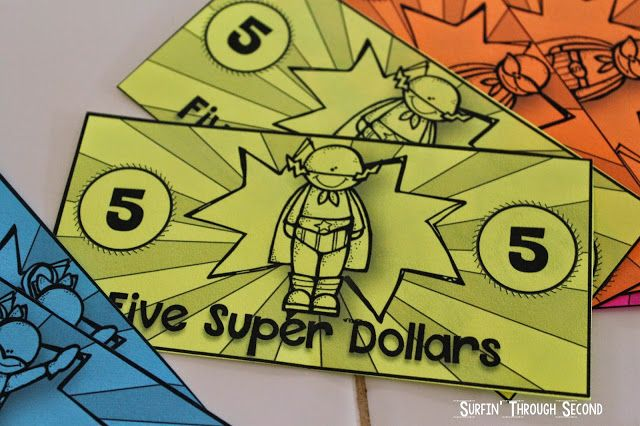 Super Hero Cash-Great as a reward system in the classroom.