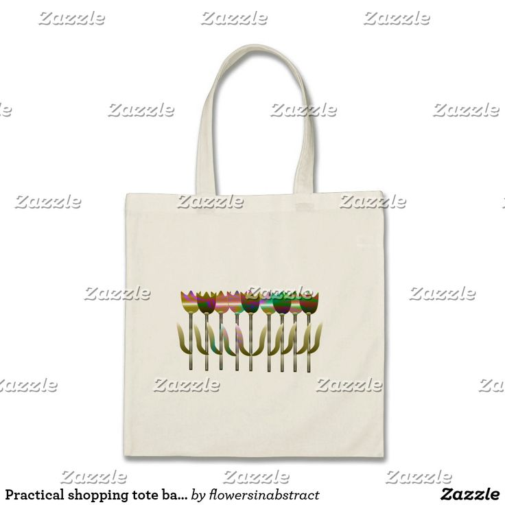Practical shopping tote bag with colourful flowers