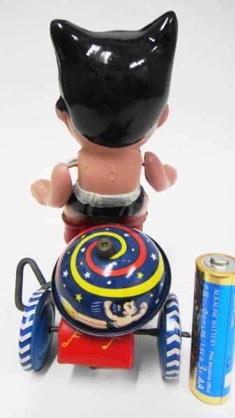 送料込即決!1960年代セルロイド玩具●鉄腕アトム●ブリキ三輪車_画像2