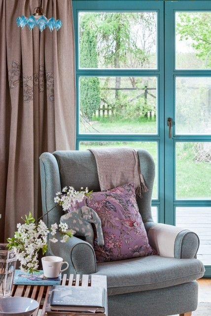 Dom drewniany_salon_Projekt Joanna Paszko Ochotny Homestyling_Zdjęcie Moje Mieszkanie