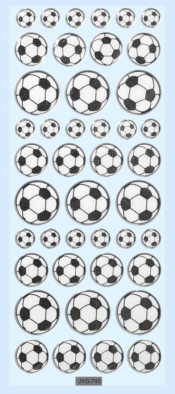 Fine glossy stickers med foldbolde med flot 3D effekt til kort, invitationer, scrapbooking og meget mere fra Sjovogkreativ.dk