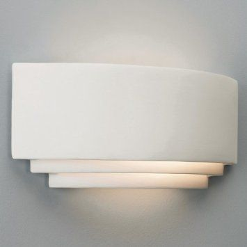 Astro 0423 E27 Amalfi Wall Light excluding 1 x 100W 230 V Bulb, Natural Ceramic: Amazon.co.uk: Lighting