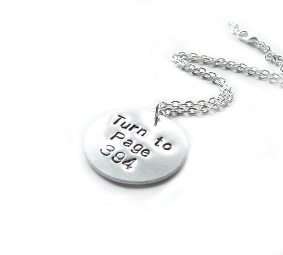 Harry Potter Necklace Turn to Page 394 Hand Stamped by abellagift, $25.00