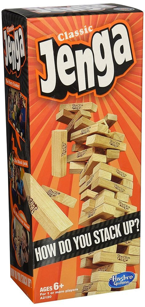 Jenga Classic Game Wood Blocks Hasbro Stacking Wooden Party Family Fun Tower New   Toys & Hobbies, Games, Board & Traditional Games   eBay!