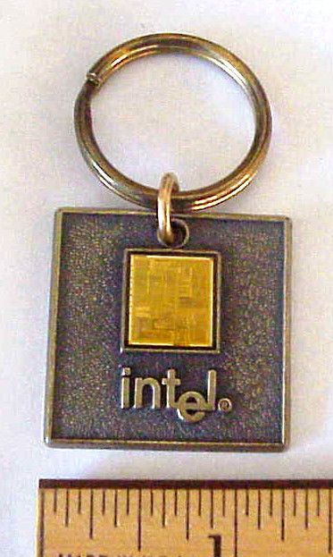 INTEL Promotional Computer Chip Keychain from the ...