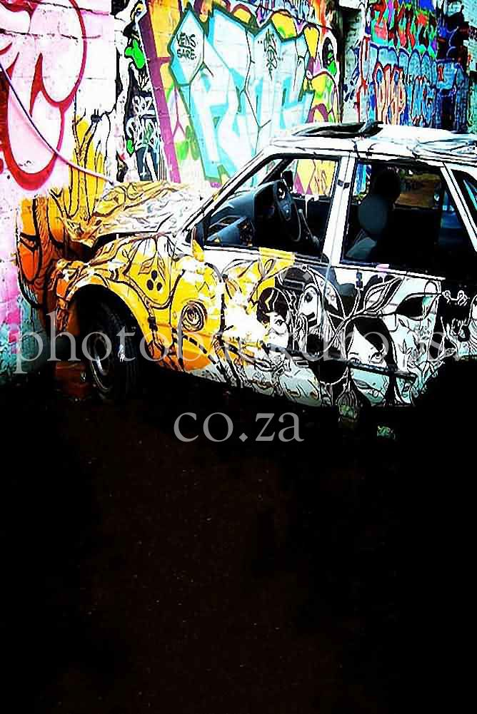 Graffiti Car Backdrop  Available in 4 sizes