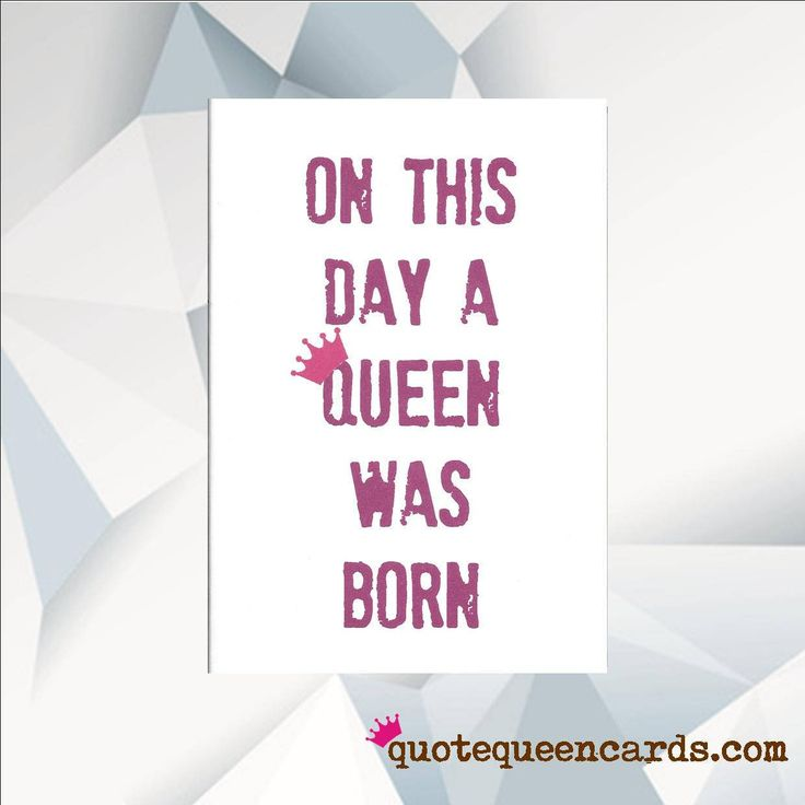 Excited to share the latest addition to my #etsy shop: On This Day A Queen Was Born, Birthday Card For Friend, Mum Birthday Card, Sister Birthday Card, Birthday, Ru Pauls Drag Race Birthday Card http://etsy.me/2F1UypC