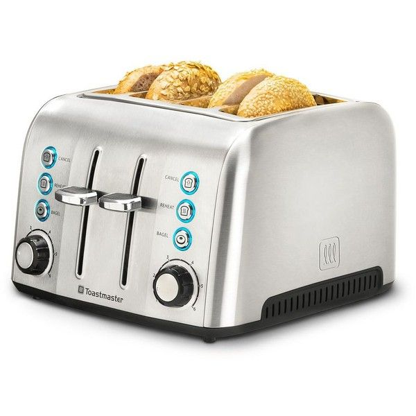Red 2 Slice Metal Electronic Browning Control Toaster with Removable Crumb Tray
