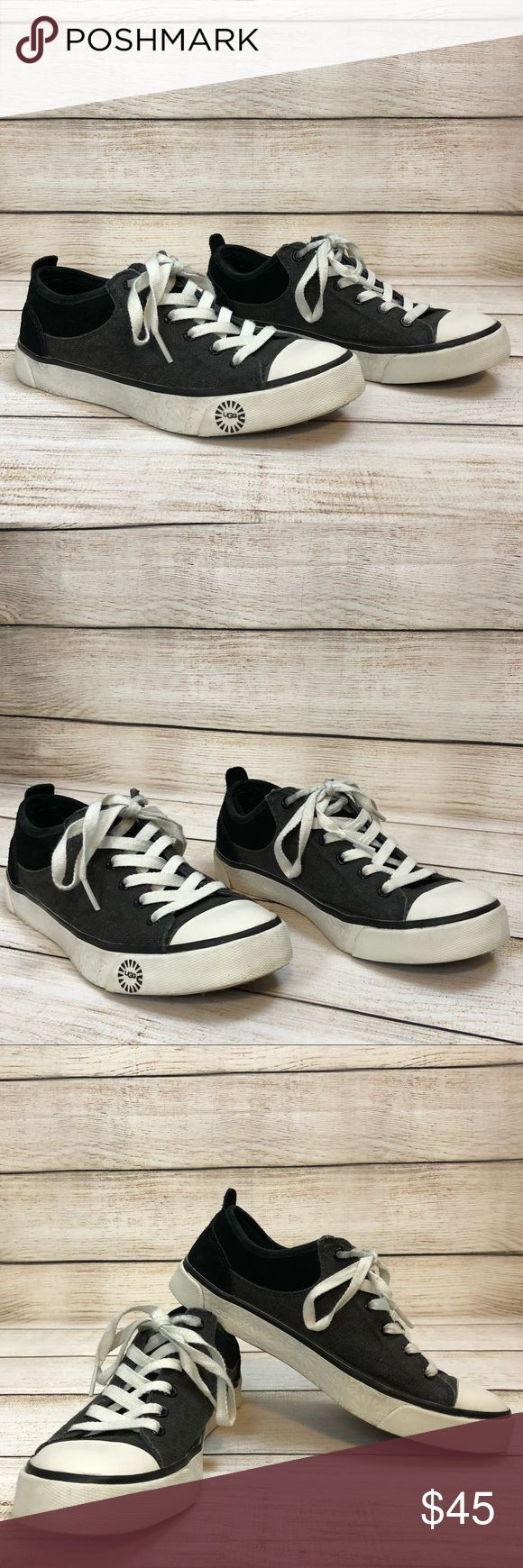 UGG • SNEAKERS Converse Style UGG • SNEAKERS Converse Style   Size 6.5  Charcoal and black  Preloved excellent condition UGG Shoes Sneakers