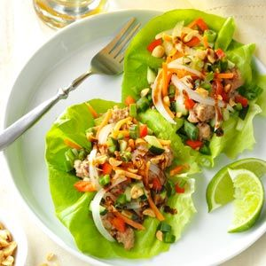 Vietnamese Pork Lettuce Wraps. Every one loved this.