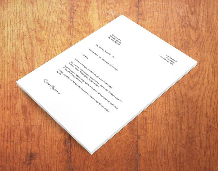 The 25+ best Simple resignation letter format ideas on Pinterest - actions when resigning internship