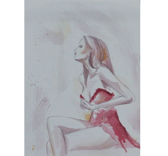 Leslie  Watercolor Painting by gilispencer on Etsy, $45.00