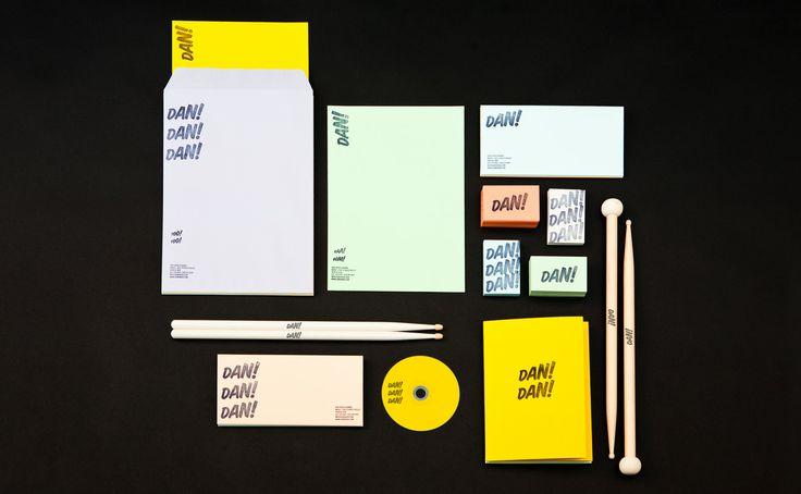 DAN!  Corporate image for Dan Arisa, musician and percussionist.    2012  Corporate / Graphic