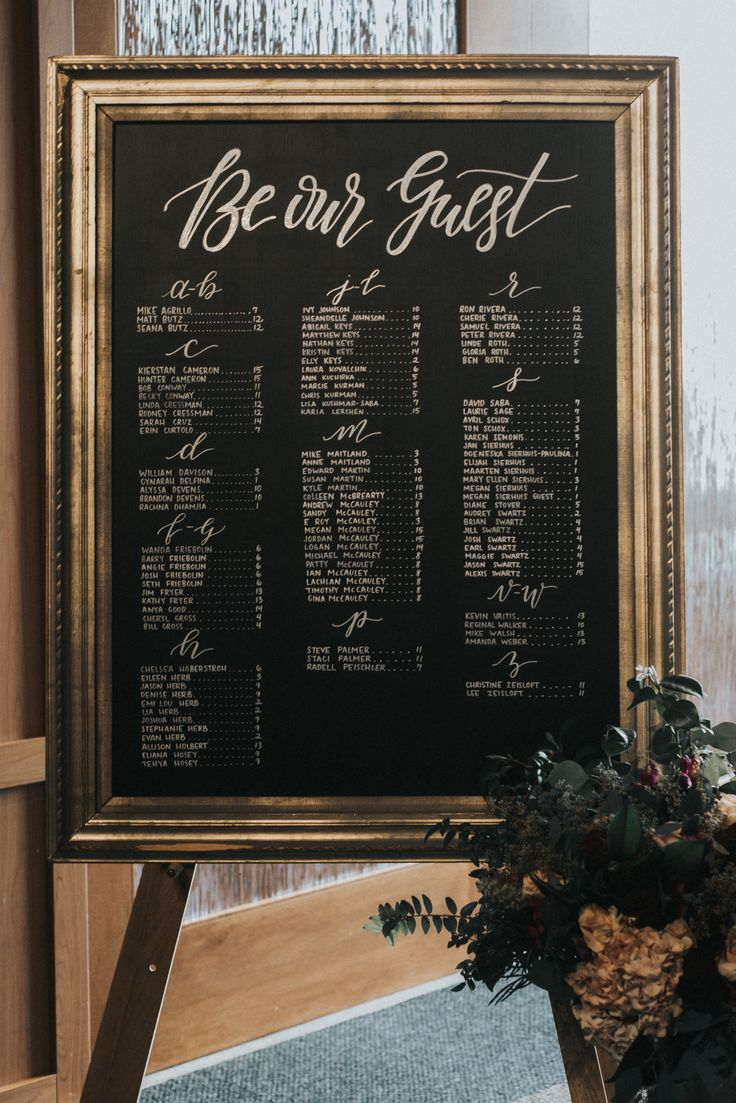 Be our guest beauty and the beast theme seating chart. www.signedbym.co