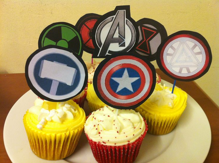 Avenger cupcake free printable