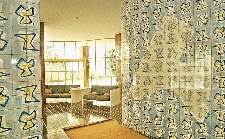 Resultado de imagem para azulejos do Hall de entrada do Edificio Prudência