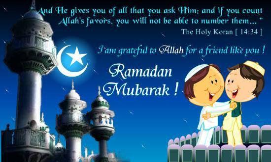 je souhaite un bon ramadan a tous les musulmans du monde entier