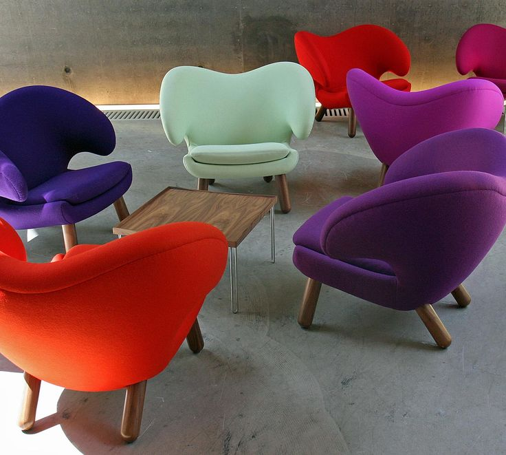 Cute and Funky Chairs  Pelican chairs by Finn Juhl in bright colors 69 best Colorful Chairs images on Pinterest   Colorful chairs  . Funky Chairs For Living Room. Home Design Ideas