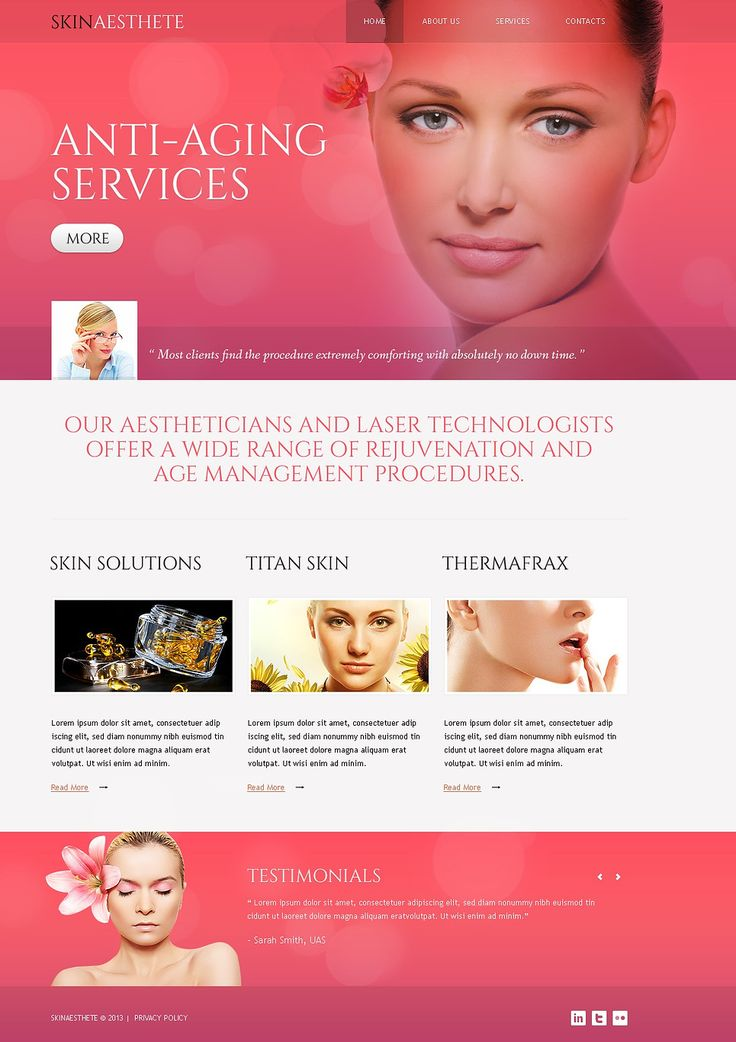 Get ready with our responsive beauty templates. www.titantemplates.com/en/category/beauty