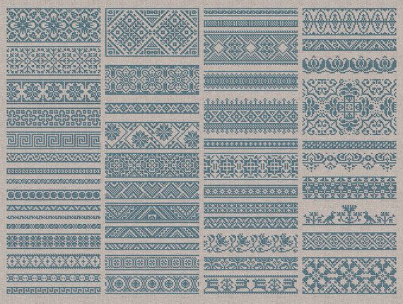 Decorative Borders 50 Original Cross-Stitch Designs by modernfolk
