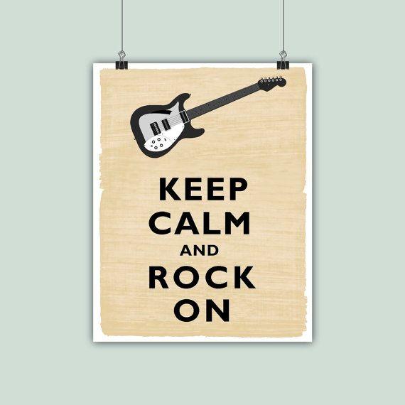 Keep Calm Art Keep Calm Print Keep calm rock on by DigitalArtLand