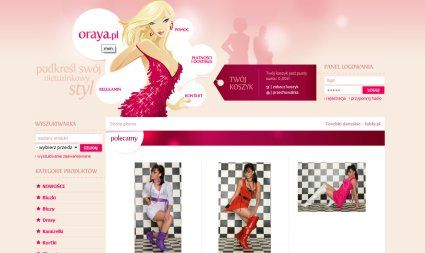 Oraya inspiring #ecommerce web design sample