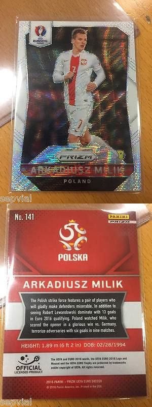 Sports Stickers Sets and Albums 141755: Panini Prizm Euro 2016 Soccer White Prizm #141 Arkadiusz Milik Rare Card Poland -> BUY IT NOW ONLY: $39 on eBay!