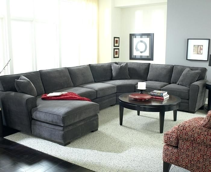 Charcoal Gray Sectional Sofa with Chaise Lounge | Living ...