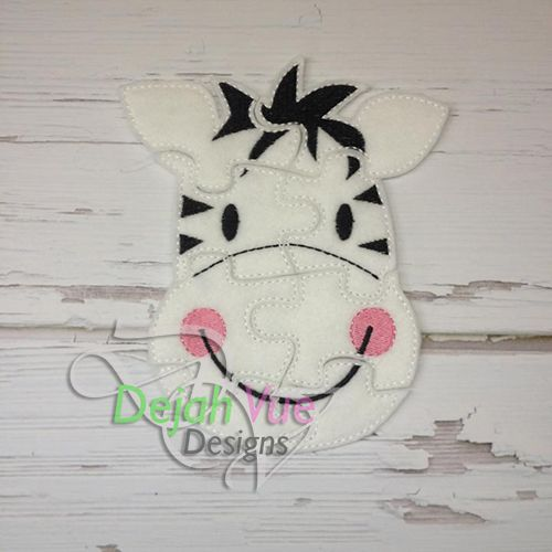 Zebra Felt Puzzle and many more items are available for purchase at https://www.etsy.com/shop/SchoolhouseBoutique