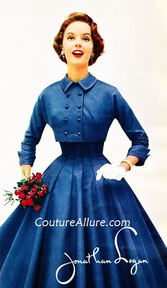 vintage fashion 1955 | the starlight sleeveless dress came with a matching bolero jacket