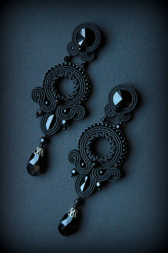 Handmade soutache earrings by Mildossutazas on Etsy                                                                                                                                                                                 Más
