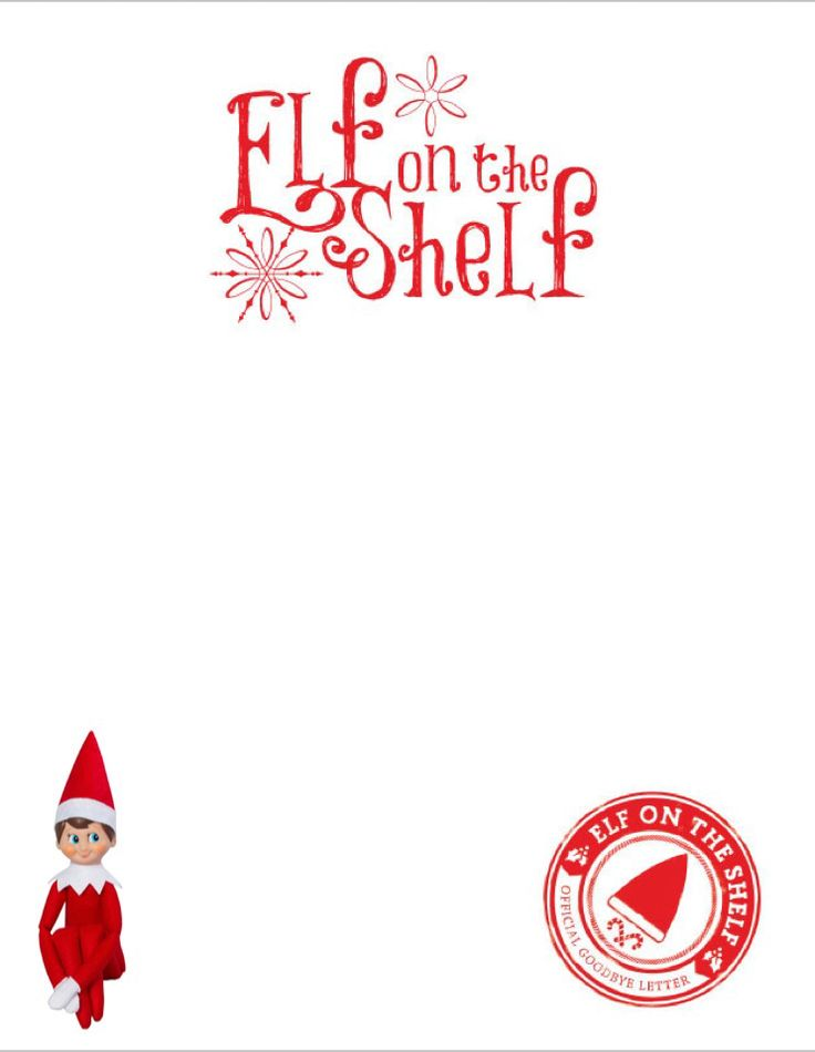 Blank Elf Letter With Elf Picture Elf On The Shelf 2017 Elf On The Shelf Elf Letters Elf