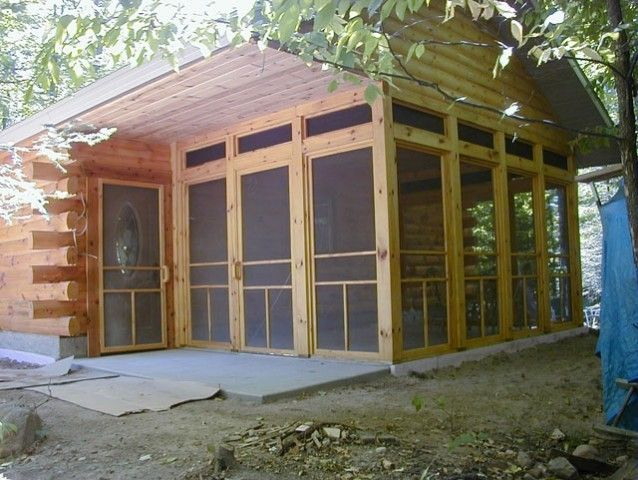 Log Cabin Screened Porches Photo Gallery Of Log Cabins
